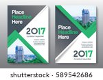 green color scheme with city...   Shutterstock .eps vector #589542686