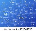 chemical elements. background... | Shutterstock . vector #589549715