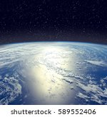 Earth From Space With Dramatic...