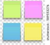 set of office paper sheets or... | Shutterstock .eps vector #589553276