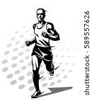 running man vector symbol ... | Shutterstock .eps vector #589557626