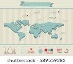 world map travel infographics... | Shutterstock .eps vector #589559282