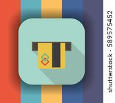 atm card slot flat icon with... | Shutterstock .eps vector #589575452