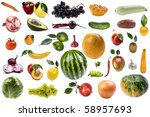 object on white   food carrot... | Shutterstock . vector #58957693