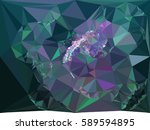 abstract multicolor mosaic... | Shutterstock .eps vector #589594895