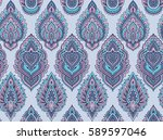 vector seamless pattern with... | Shutterstock .eps vector #589597046