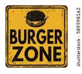 burger zone vintage rusty metal ... | Shutterstock .eps vector #589598162