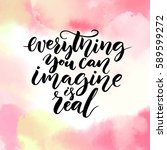 everything you can imagine is... | Shutterstock .eps vector #589599272