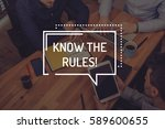 know the rules  concept | Shutterstock . vector #589600655