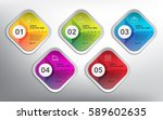 abstract info graphic square... | Shutterstock .eps vector #589602635