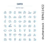 vector graphic set. icons in... | Shutterstock .eps vector #589611422