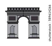 arc de triomphe icon image  | Shutterstock .eps vector #589614266