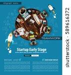 infograph brochure template... | Shutterstock . vector #589616372