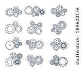 vector illustration. set icons... | Shutterstock .eps vector #589623176