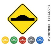 unequal road surface icon set... | Shutterstock .eps vector #589627748