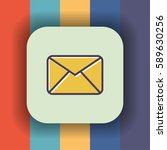 mail envelope icon with outline ...