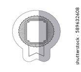 contour emblem squard border... | Shutterstock .eps vector #589632608