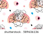 hand made vector abstract... | Shutterstock .eps vector #589636136