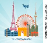 travel planning flat concept.... | Shutterstock .eps vector #589636202