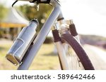 water bottle. bicycle bottle.... | Shutterstock . vector #589642466
