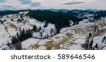 winter mountains covered with... | Shutterstock . vector #589646546