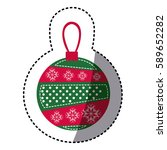 sticker cartoon garland... | Shutterstock .eps vector #589652282