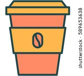 a cup of coffee icon... | Shutterstock .eps vector #589653638