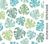 tropical seamless pattern with... | Shutterstock .eps vector #589656668