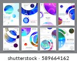 business brochure vector set | Shutterstock .eps vector #589664162