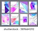business brochure vector set | Shutterstock .eps vector #589664192