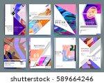 business brochure vector set | Shutterstock .eps vector #589664246