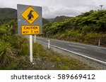 road sign in new zealand  ... | Shutterstock . vector #589669412