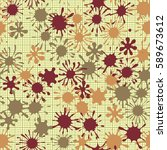 seamless pattern. multi colored ... | Shutterstock .eps vector #589673612