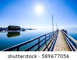 famous chiemsee lake in bavaria - germany - stock photo
