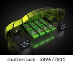 3d rendering  electric vehicle... | Shutterstock . vector #589677815