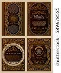 vintage golden vector set retro ... | Shutterstock .eps vector #589678535