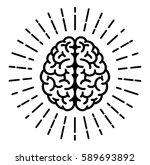 brain symbol | Shutterstock .eps vector #589693892