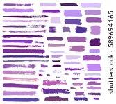 purple  violet vector brush...   Shutterstock .eps vector #589694165