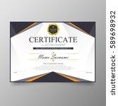 certificate premium template...   Shutterstock .eps vector #589698932