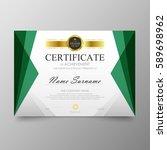 certificate premium template... | Shutterstock .eps vector #589698962