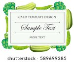 card template with green... | Shutterstock .eps vector #589699385