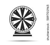 wheel of fortune  icon. vector... | Shutterstock .eps vector #589701965