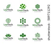collection of logo templates.... | Shutterstock .eps vector #589711292
