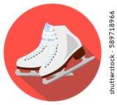 vector ice skates flat icon...   Shutterstock .eps vector #589718966