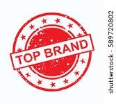 top brand vector stamp icon logo | Shutterstock .eps vector #589720802