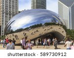 chicago  illinois  usa  ... | Shutterstock . vector #589730912