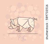 vector simple illustration... | Shutterstock .eps vector #589733516