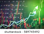 stock market digital graph... | Shutterstock . vector #589745492