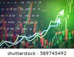 stock market digital graph...   Shutterstock . vector #589745492