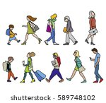 vector illustration of people... | Shutterstock .eps vector #589748102